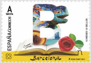 El sello dedicado a Barcelona.