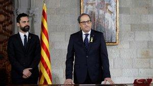 Amiant al despatx de Puigdemont al Palau de la Generalitat