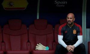 Pepe Reina, con la selección española en el Mundial de Rusia del 2018.