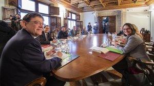 Reunión delGobierno de la Generalitat Valenciana para abordar un posible adelanto electoral el 28 de abril.