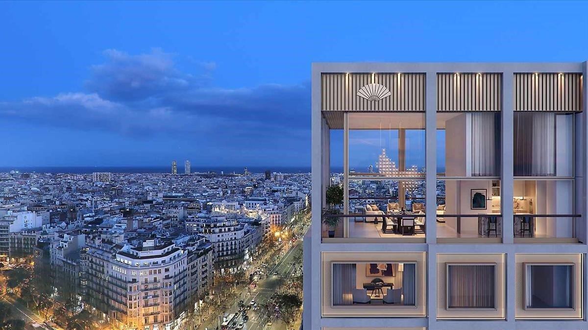 Aspecto de los apartamentos de paseo de Gràcia que gestiona Mandarín.