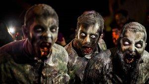 Monstruos del 'scream park' en Horrorland.