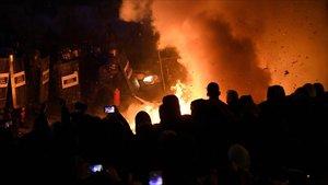 Empresonades 24 persones pels disturbis a Catalunya