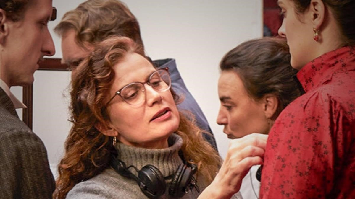 Lou Jeunet, durante el rodaje de 'Curiosa'.