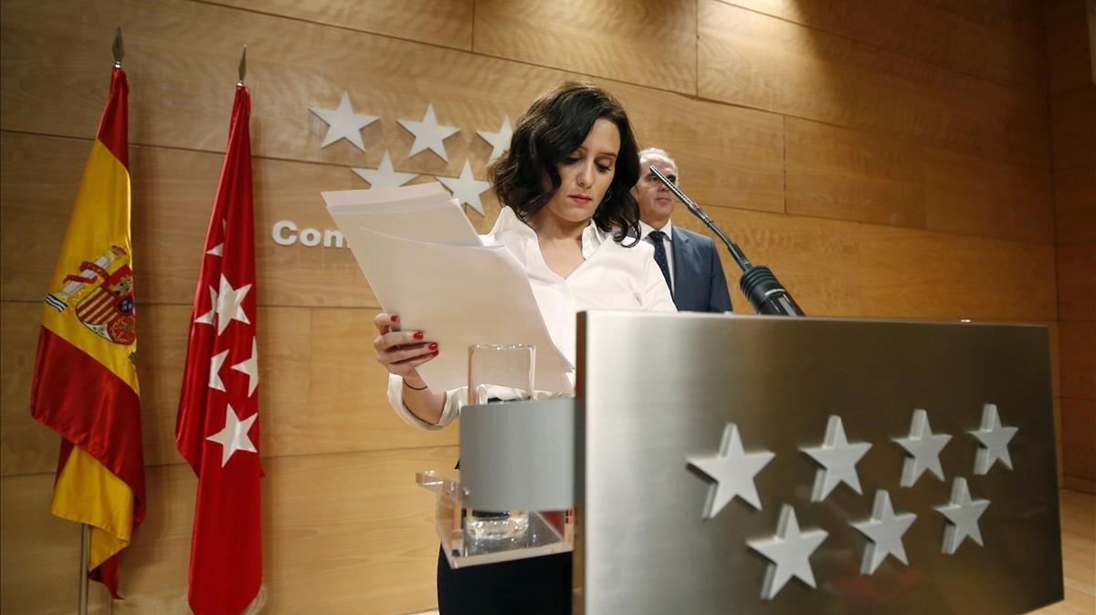 Isabel Díaz Ayuso recibe el alta tras recuperarse del coronavirus