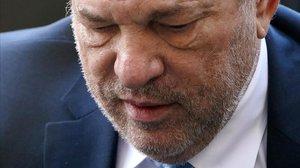Harvey Weinstein, en el juicio por abusos sexuales en febrero, en Nueva York.
