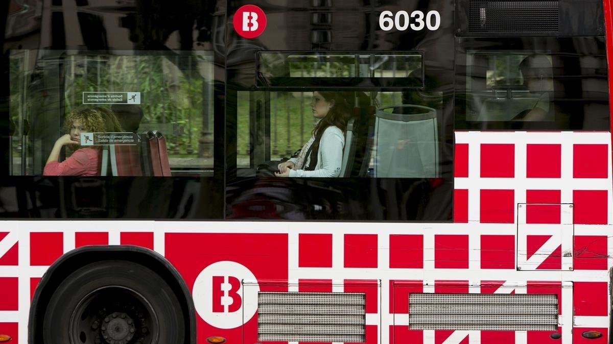 Un autobús urbano de Barcelona.