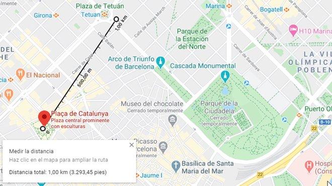 Cómo medir un kilómetro en el mapa para los paseos con los niños
