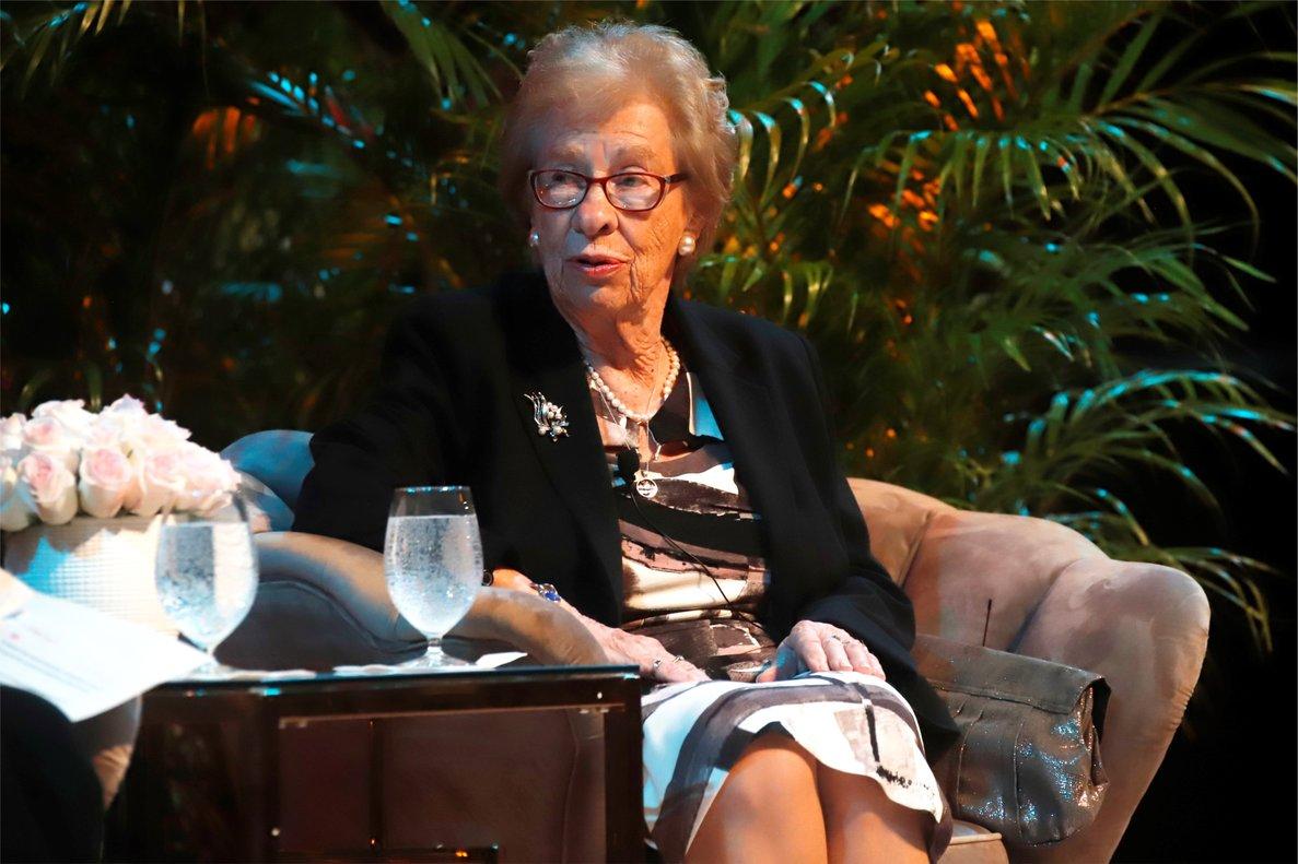 Eva Schloss, superviviente del campo de concentración de Auschwitz y hermanastra de Ana Frank.