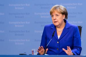 La canciller alemana, Angela Merkel, tras la cumbre de Bruselas.