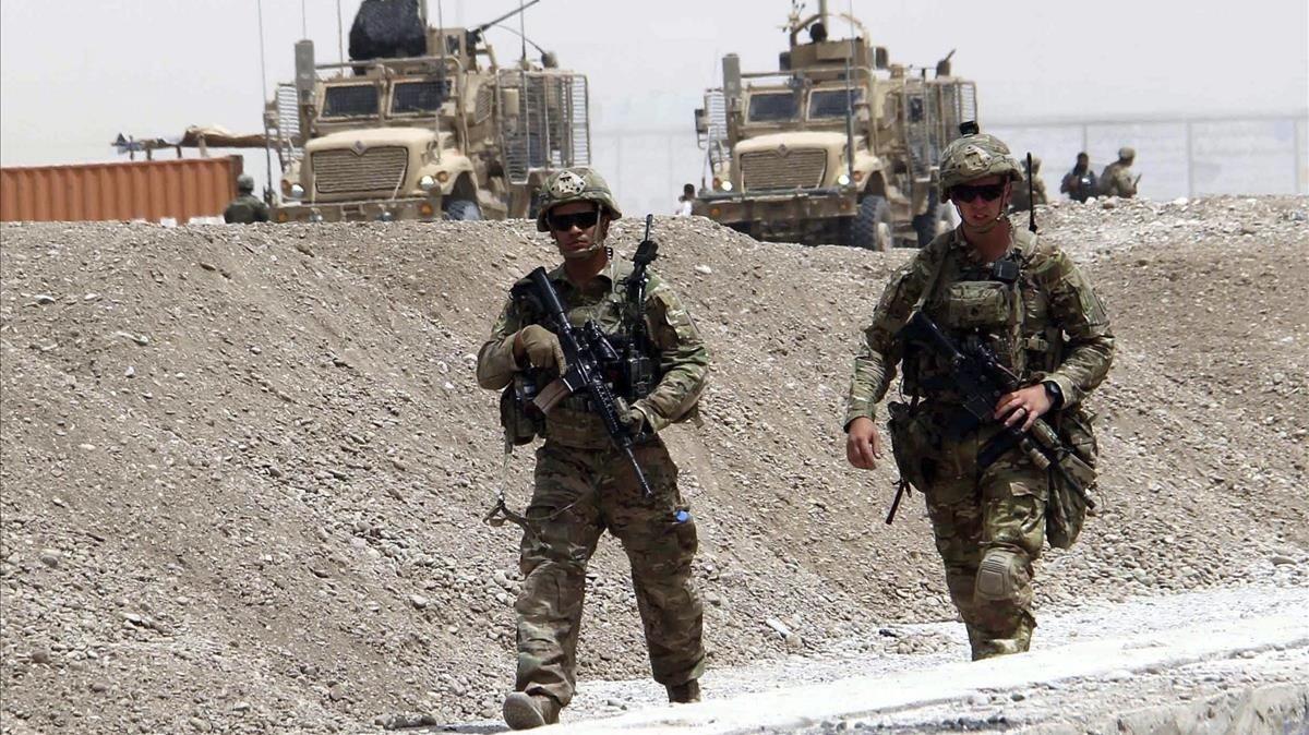 Soldados de la OTAN en Kandahar, en una fotografía del 2017.