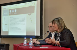 La alcaldesa de LHospitalet, Núria Marín, en la presentación del nuevo portal
