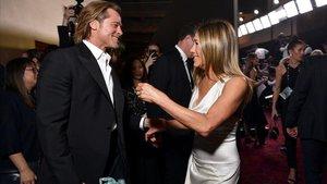 Brad Pitt y Jennifer Aniston, juntos, durante la gala de los premios del Sindicato de Actores.