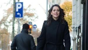 Inés Arrimadas, en un acto de la pasada campaña electoral.