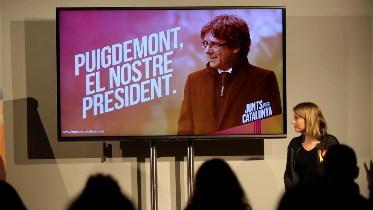 El cartel electoral de Junts per Catalunya