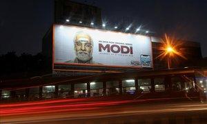 El cartel de la web serie sobre el primer ministro indio, Narendra Modi.