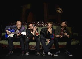 Imagen promocional de la banda británica Coldplay.