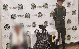 Una anciana detenida por tráfico de drogas en Colombia.
