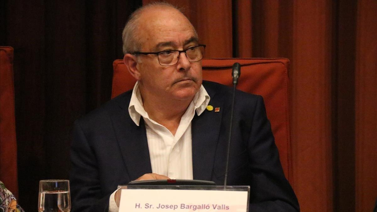 El 'conseller' de Educación Josep Bargalló, este martes, en el Parlament.