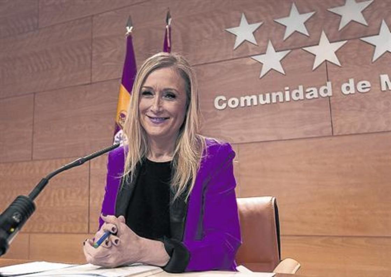 Cristina Cifuentes, en la sede del Gobierno de la Comunidad de Madrid.