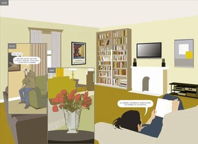 Doble página del cómic 'Aquí', de Richard McGuire.