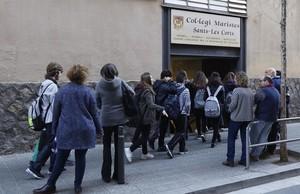 Colegio de los Mariscas en Les Corts, donde se han denunciado varios casos de pederastia