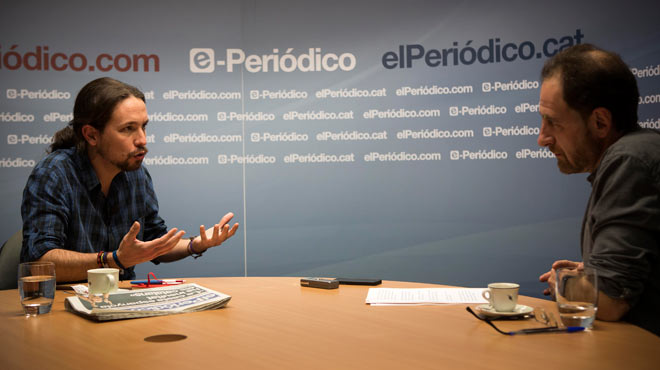 Versió íntegra de lentrevista amb Pablo Iglesias, secretari general de Podem.
