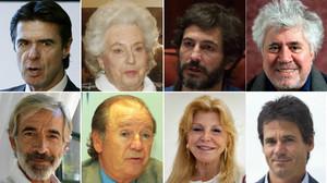 Algunos de los españoles que aparecen en los papeles de Panamá.