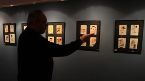Exposición sobre dibujos del ilustrador Bon en la Galería Sicoris de Barcelona.