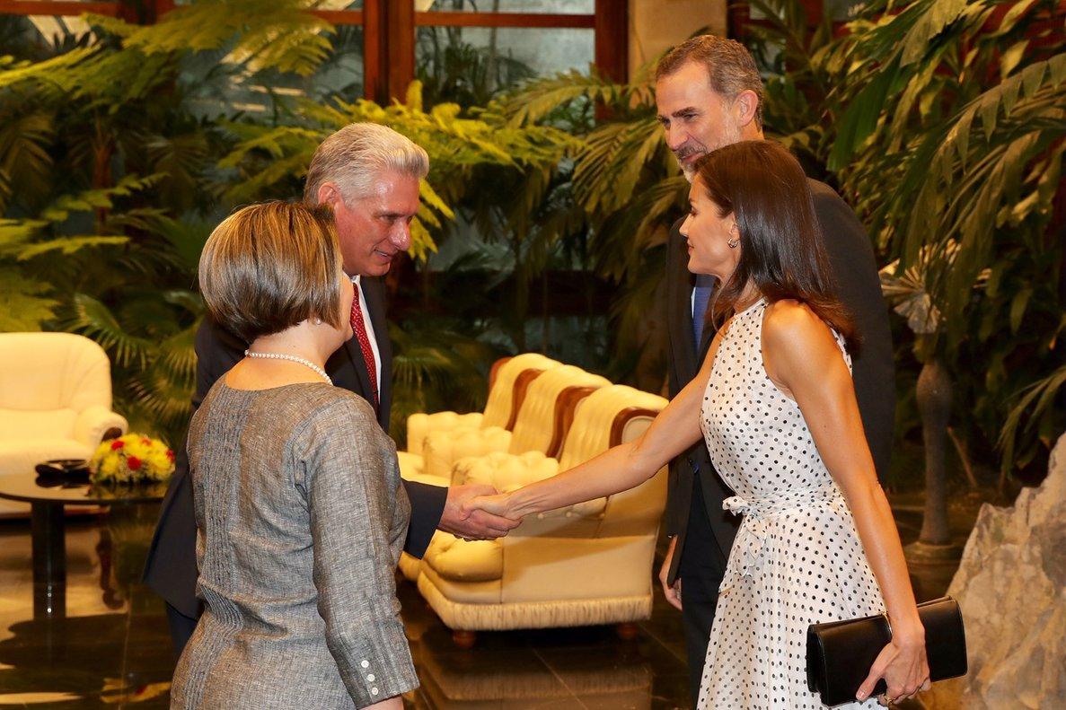 Los reyes cierran su primera jornada en Cuba con una cena con Díaz-Canel