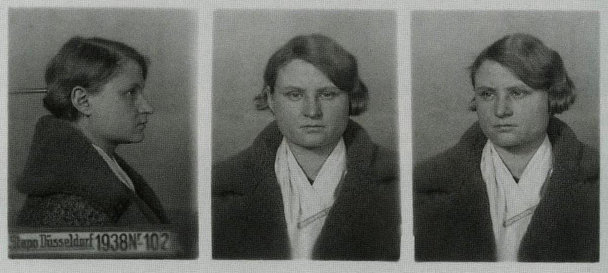 Ficha policial de la Gestapo de Luise Vögler, denunciada por supuestas simpatías soviéticas, del libro de Frank McDonough.