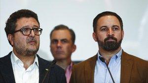 Francisco Serrano y Santiago Abascal, el pasado diciembre, en Sevilla.
