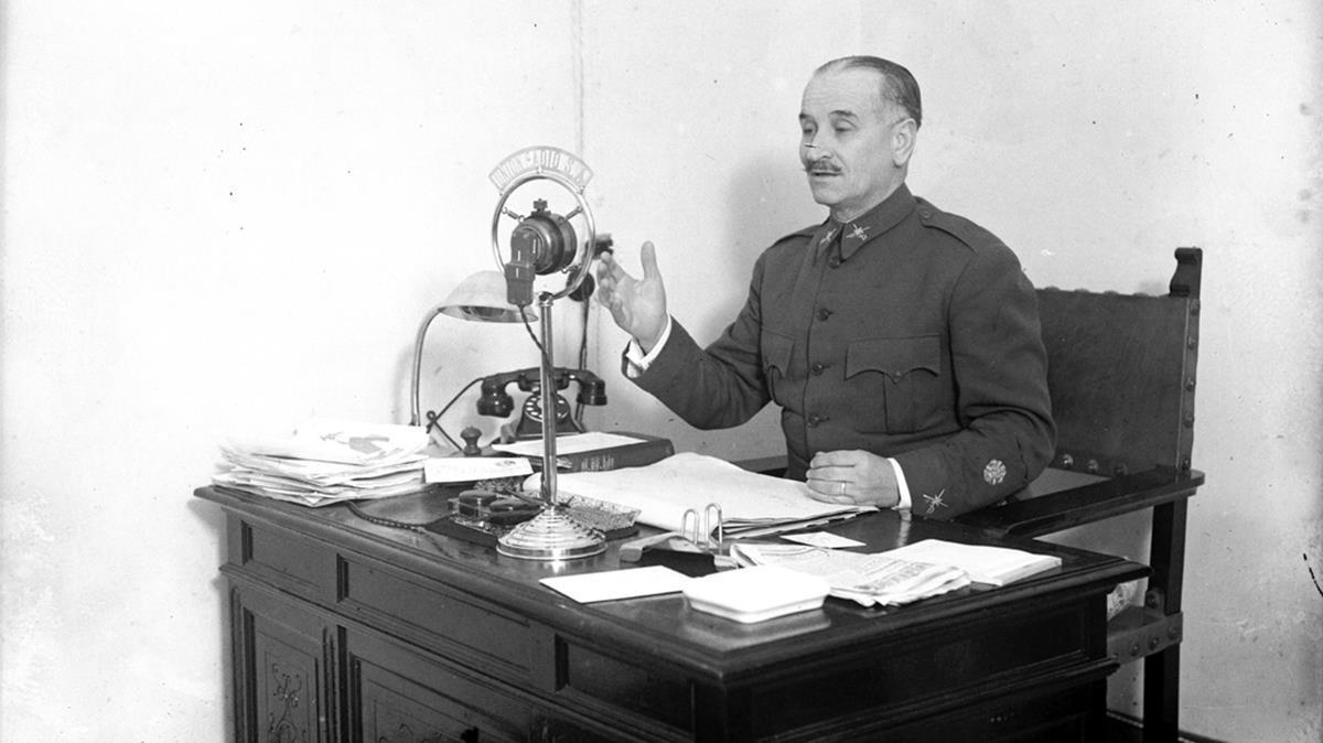 Gonzalo Queipo de Llano, en una imagen de un documental de TV-3.