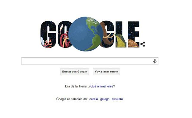 Doodle que propone Google este miércoles en homenaje al Día de la Tierra.