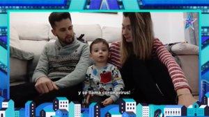Hugo Molina y sus padres en la nueva entrega de 'Got Talent en casa'.