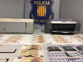 Desarticulado un laboratorio de falsificación de billetes de 50 euros en Granollers