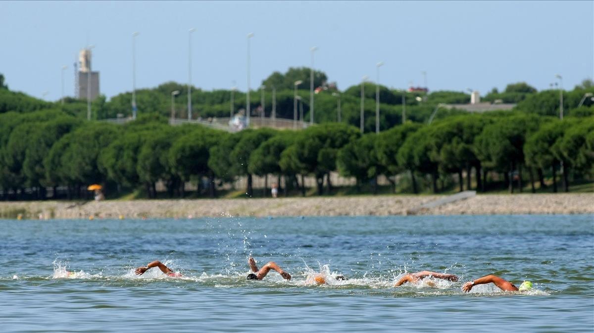 Vistas de las instaciones del Canal Olímpic, en Castelldefels.
