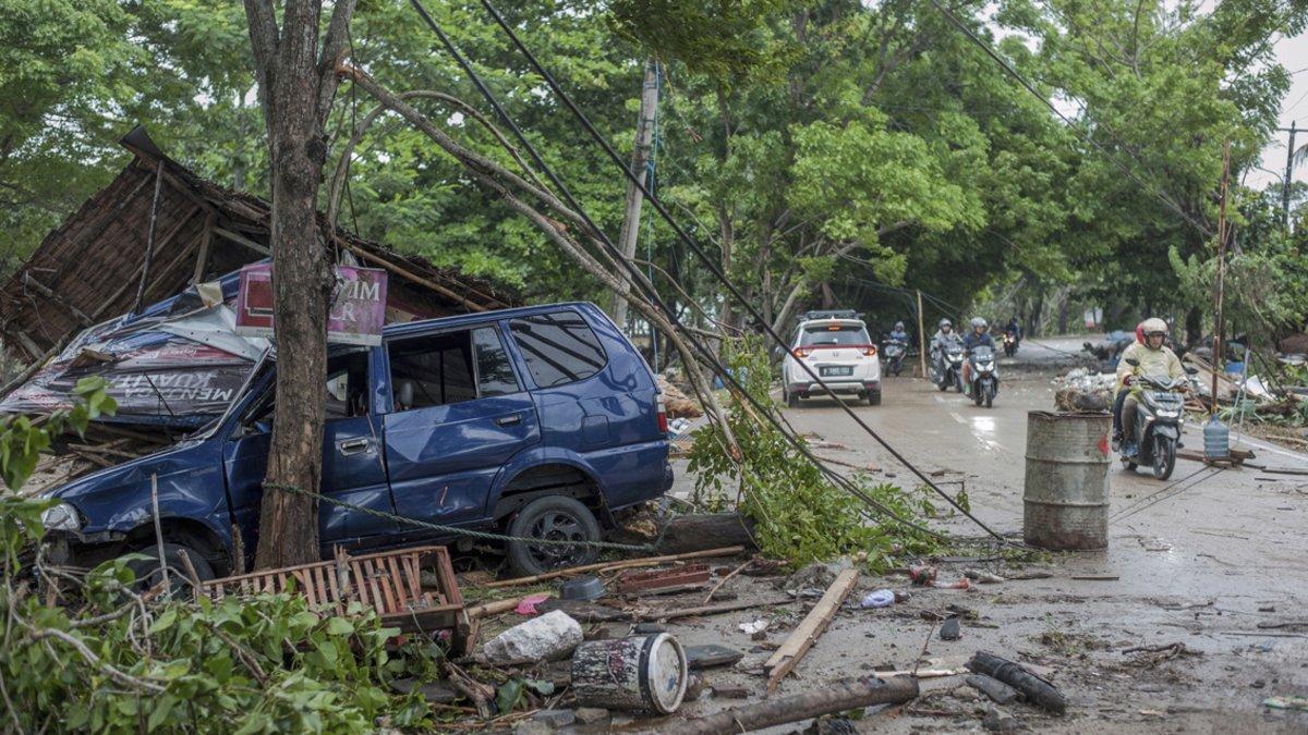 La zona del interior, devastada por el tsunami.