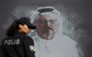 Mural delperiodista saudí asesinado, Jamal Khashoggi.