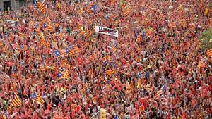 Un milió d'assistents a la manifestació de la Diada 2018 a Barcelona, segons la Guàrdia Urbana
