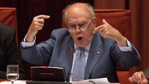 Jordi Pujol, en la comparecencia sobre sus cuentas en el extranjero.