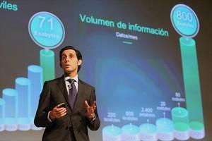 El presidente de Telefónica,José María Álvarez-Pallete,reclama confianza y agradece el esfuerzo inversor a los accionistas estos últimos cinco años.