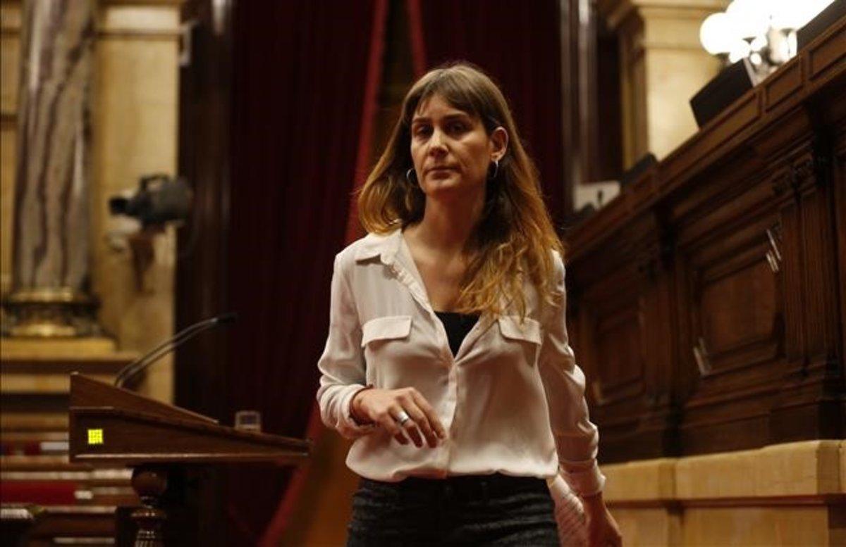 La diputada de los 'comuns' en el Parlament, Jéssica Albiach.