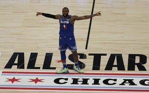 LeBron James en el Juego de las Estrellas de la NBA.