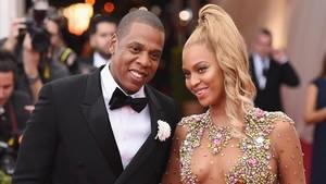 Jay-Z y Beyoncé, en una gana en el MOMA de Nueva York enel 2015.