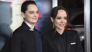 Emma Portner y Ellen Pagem en septiembre pasado.