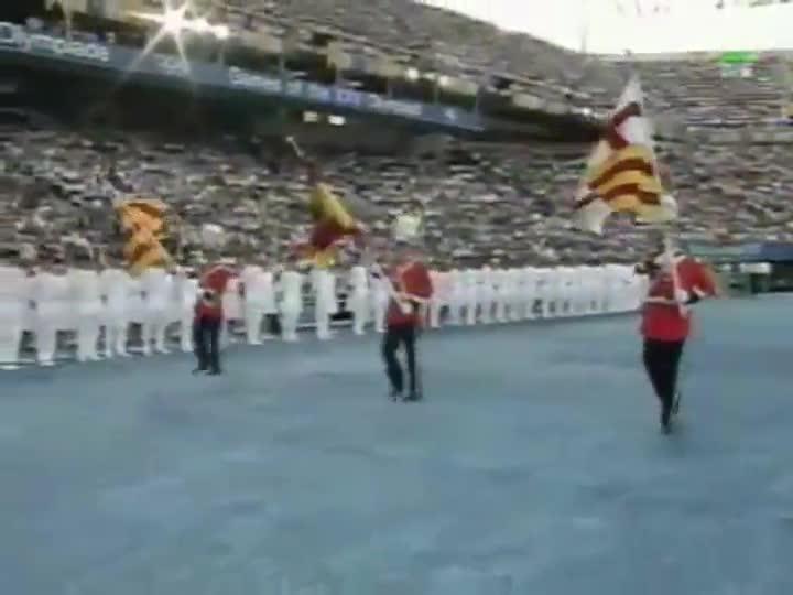 Los JJ.OO de Barcelona '92. Ceremonia inaugural. Llegada de los Reyes y el himno de 'Els Segadors'