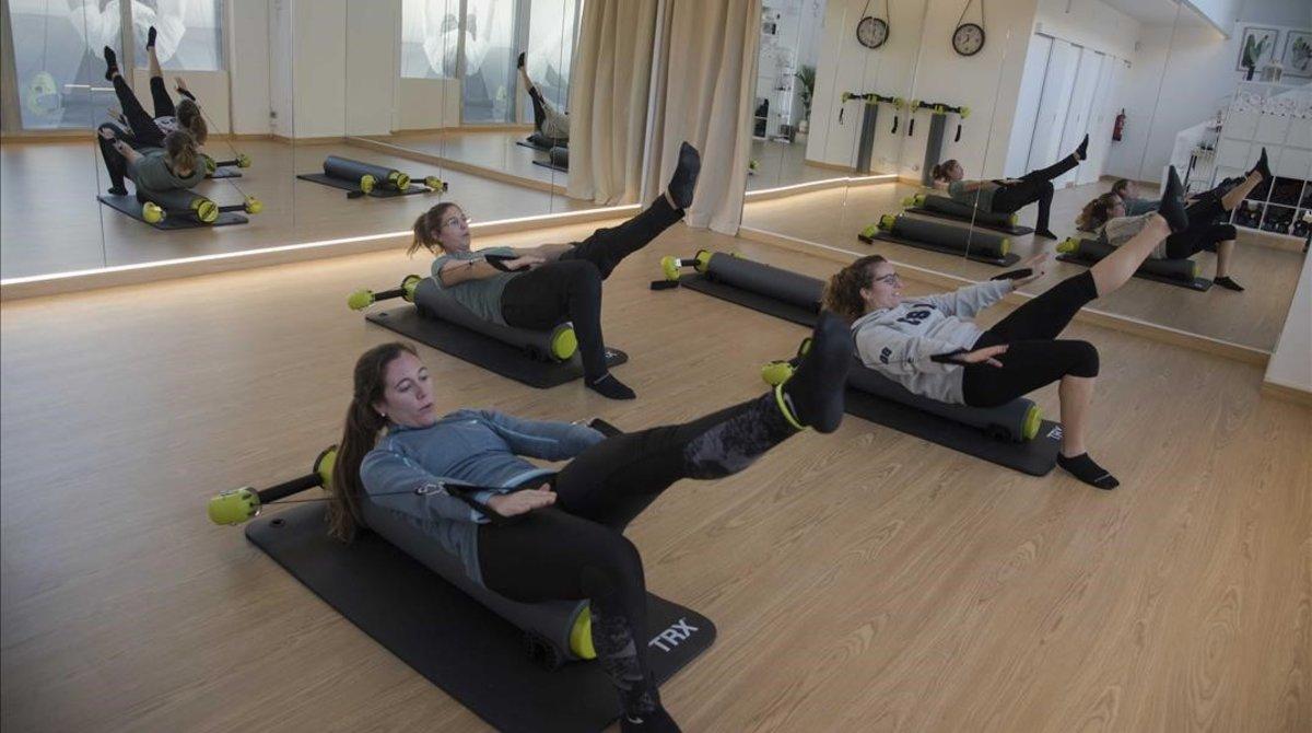 DinamiCore es un gimnasio boutique donde se hace crosspilates,la tendencia fitness de este año.