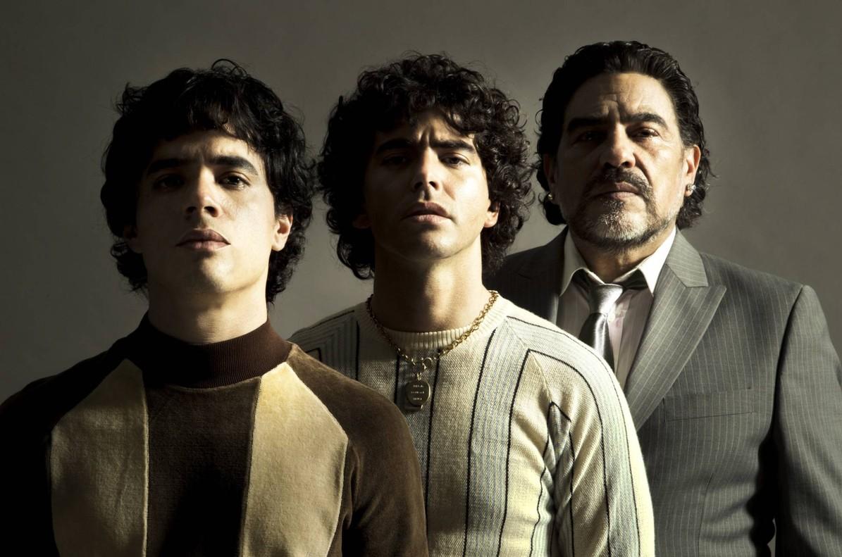 Los tres actores que interpretarán a Maradona en la serie que prepara Amazon.