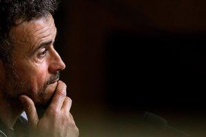GRAF4727 MADRID ESPANA 15 03 2019 - Luis Enrique seleccionador espanol ofrece una rueda de prensa este viernes para anunciar la convocatoria para los dos primeros partidos de la fase de clasificacion a la Eurocopa 2020 ante Noruega en Mestalla y Malta en Ta Qali EFE Juan Carlos Hidalgo